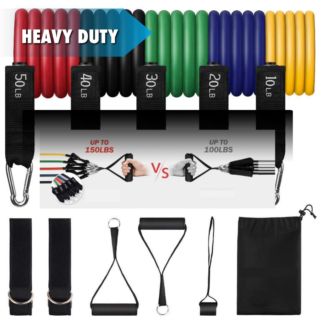 12-Piece Heavy Duty Resistance Band Set