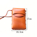 RETRO WILD LEATHER CROSS BODY PHONE BAG