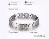 TITANIUM STEEL MAGNETIC THERAPY BRACELET