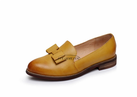 WOMEN GENUINE LEATHER OXFORD LOAFER - Hey Magento