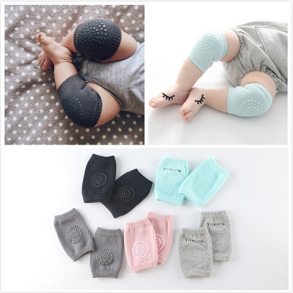 KNEE PADS COTTON CRAWLER - 6M - 24 MTH - 5 COLOURS