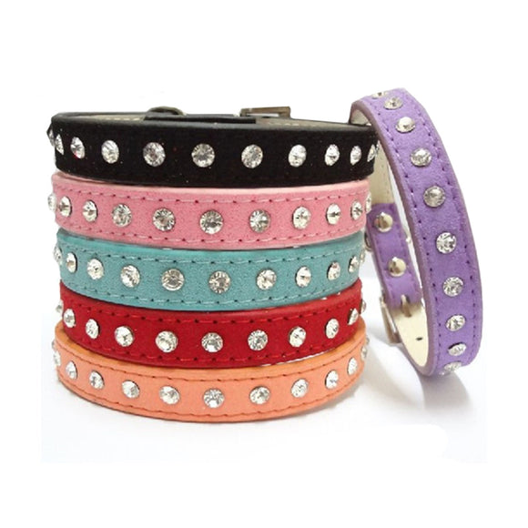 LED LIGHT LEATHER DOG / CAT COLLAR - 1PC - 10 COLOURS - Hey Magento