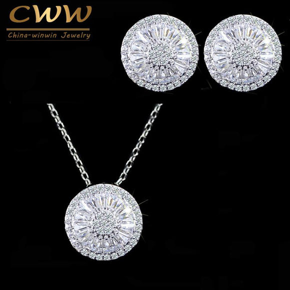 CRYSTAL JEWELRY SET NECKLACE & EARRINGS