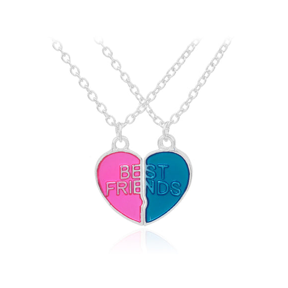 BEST FRIEND HEART CANDY COLOUR NECKLACE - Hey Magento
