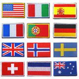 COUNTRY EMBRIODERED CLOTH BADGE 1 PC - 16 COUNTRIES - Hey Magento
