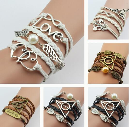 DOUBLE INFINITE MULITILAYER BRACELET - 13 COLOUR CHOICE - 1PC