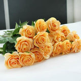 ARTIFICIAL FLOWERS - 12PC LOT - 6 COLOURS TO CHOOSE - ROSE - Hey Magento
