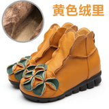 AUTUMN & SUMMER GENUINE LEATHER HANDMADE BOOTS VINTAGE ANKLE - 6 COLOUR CHOICE - 6 SIZE CHOICE - Hey Magento