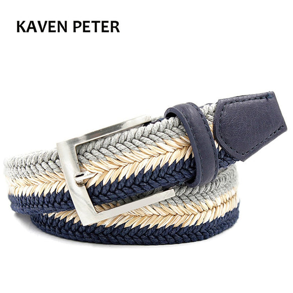MENS BRAIDED WAX ROPE AND LEATHER BELT
