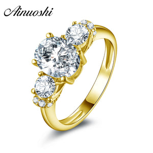 SOLID YELLOW GOLD 2CT DIAMOND WEDDING RING 12 SIZES - Hey Magento