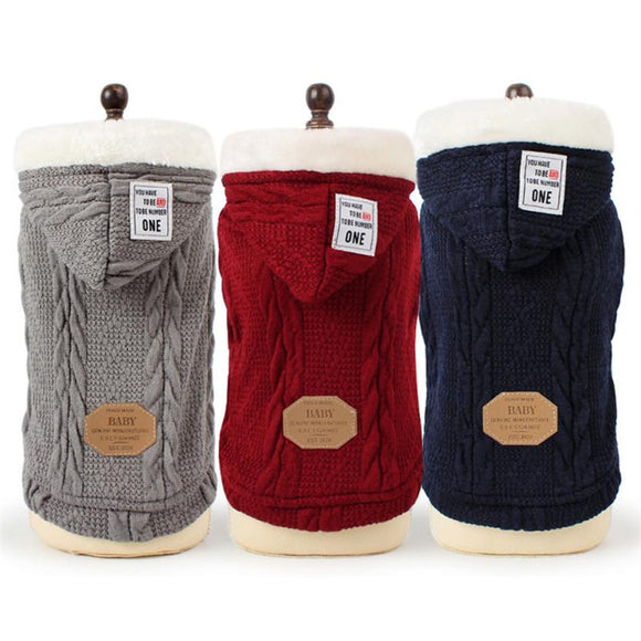 WINTER THICK PET DOG SWEATER - 12 COLOUR CHOICE - 1PC - Hey Magento