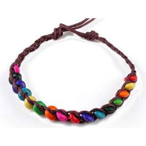 WOOD BEAD FRIENDSHIP STRING WEAVE - Hey Magento
