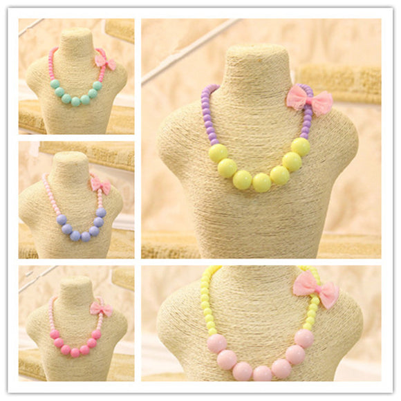 BOWKNOT STRAND SHORT NECKLACE - 6 COLOURS - 1PC - Hey Magento
