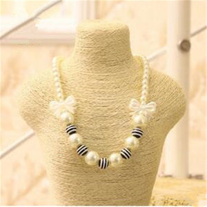 STRIPED SIMULATED PEARL CHOKER - Hey Magento