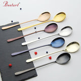 STAINLESS STEEL LONG HANDLE DESSERT COFFEE/ICE CREAM SPOON