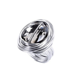 BLACK WIND METAL CRAFT METAL WIRE BIG OVAL RING - 4 SIZES - 11 COLOURS - Hey Magento