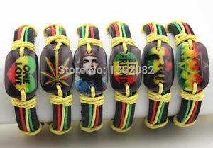 ONE LOVE LEATHER FRIENDSHIP BRACLETS - 12 PIECES - Hey Magento