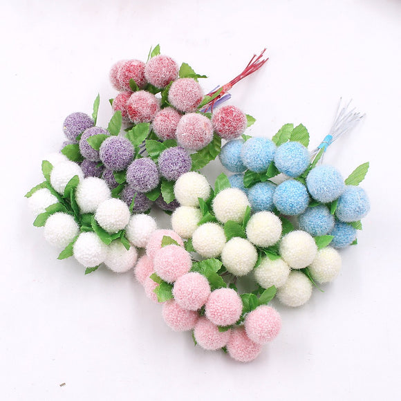 ARTIFICIAL FLOWERS - 10PCS - 7 COLOURS TO CHOOSE - CHERRY STAMENS - Hey Magento