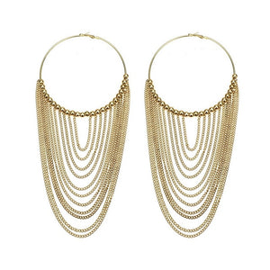 WOMENS LONG METAL CIRCULAR EARRINGS - Hey Magento