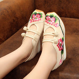 SPRING ENMBROIDERED FLAT PLATFORM SHOES CASUAL - 20 COLOURS - 5 SIZE CHOICE
