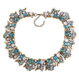10 COLOUR CHOICE - GEM NECKLACE MAXI ALLOY STATEMENT NECKLACE - 1PC - Hey Magento
