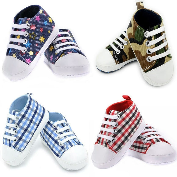 UNISEX BABY SNEAKER SHOES 21 COLOURS - 4 SIZES