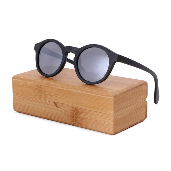 POLARIZED BAMBOO WOODEN SUNGLASSES - WITH OR WITHOUT CASE