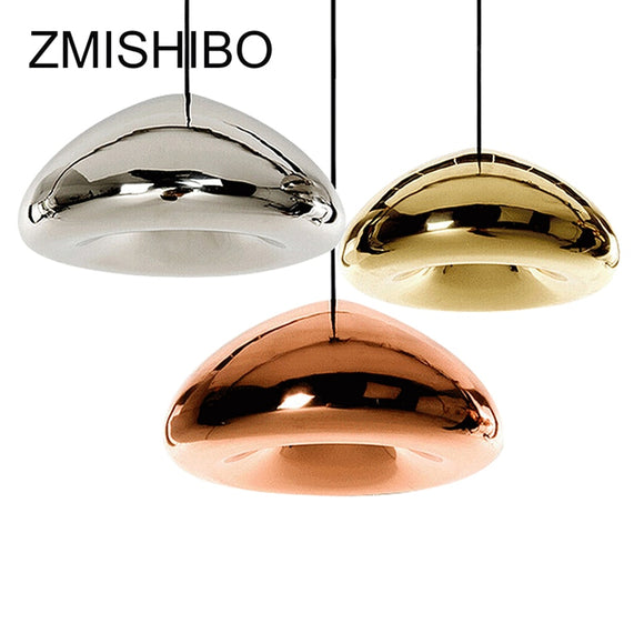 ZMISHIBO Modern Glass Pendant Lamp 110-240V E27 G4 Chrome Golden Red Bronze Ceiling Surface Mounted For Living Bedroom Dining - Hey Magento