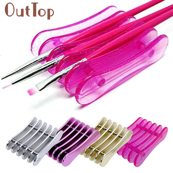 NAIL ART PENHOLDER NAILS SALON BRUSH RACK TOOL MANICURE UV GEL CRYSTAL - 4 COLOURS - Hey Magento