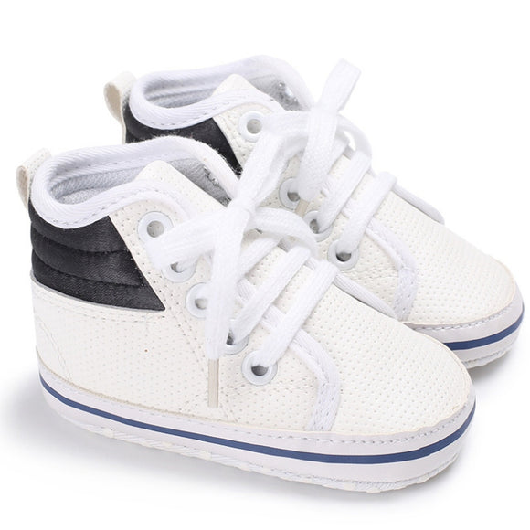 BREATHABLE BOY BABY LEATHER SNEAKER - 3 SIZES - 3 COLOURS - Hey Magento