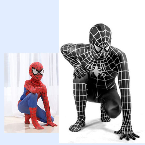 SPIDERMAN CHILD COSTUME - 2 COLOUR CHOICE - 5 SIZE CHOICE