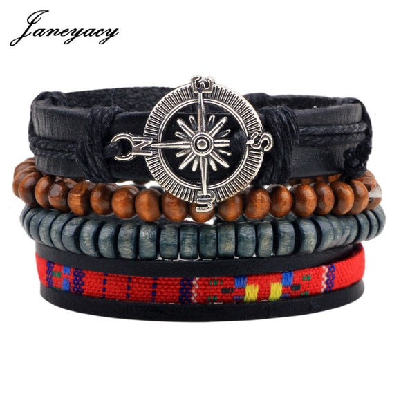MULTILAYER LEATHER BRACELET - 3 TO 4 PIECES - 19 CHOICE SELECTION