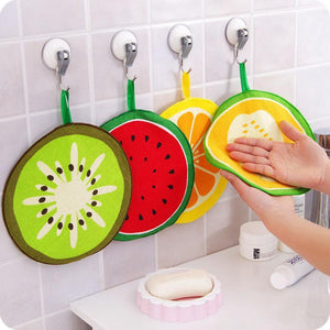 FRUIT PATTERN MICROFIBRE KITCHEN TOWEL - 4 COLOURS - Hey Magento