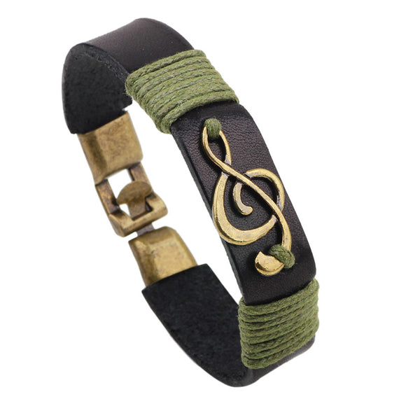 STEAMPUNK MUSIC NOTE ID BRACELET - 2 COLOUR CHOICES - 1PC