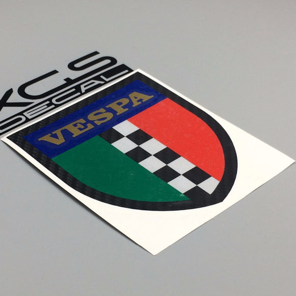 VESPA WATERPROOF 10CM X 8.5CM STICKER