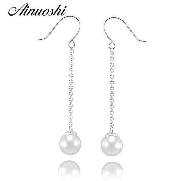 SILVER BALL ENGAGEMENT LUXURY DROP 925 STERLING EARRINGS - Hey Magento