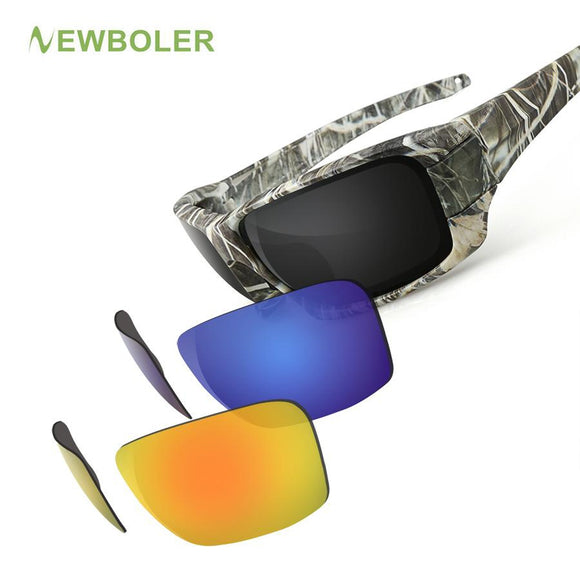 POLARIZED CYCLING DRIVING 3 LENSE CAMOUFLAGUE FRAME