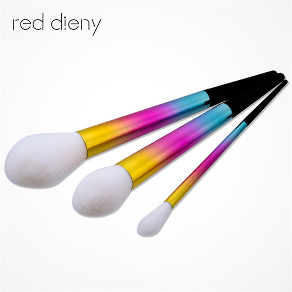 3PCS MAKEUP BRUSH KIT - DAZZLING WHITE BRISTLES - Hey Magento