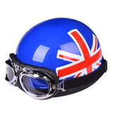 VESTA OPEN FACE HALF SCOOTER HELMET & VISOR & GOOGLES - 17 COLOURS