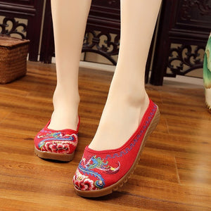 PHOENIX EMBROIDERED CASUAL SHOES - 3 COLOUR CHOICE - 8 SIZE CHOICE