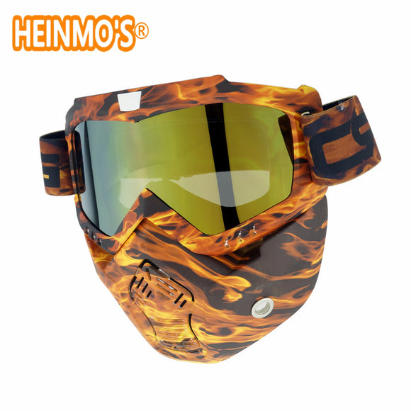 HELMET VINTAGE MOTOCROSS ANTIFOG SNOWMOBILE GOGGLES - 14 COLOUR CHOICE