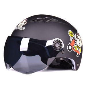 VINTAGE HALF FACE OPEN FACE HELMET - 19 COLOUR CHOICES