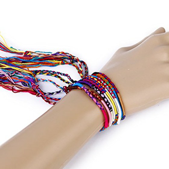 9PCS COLOURFUL BOHO FRIENDSHIP BRACELET - Hey Magento