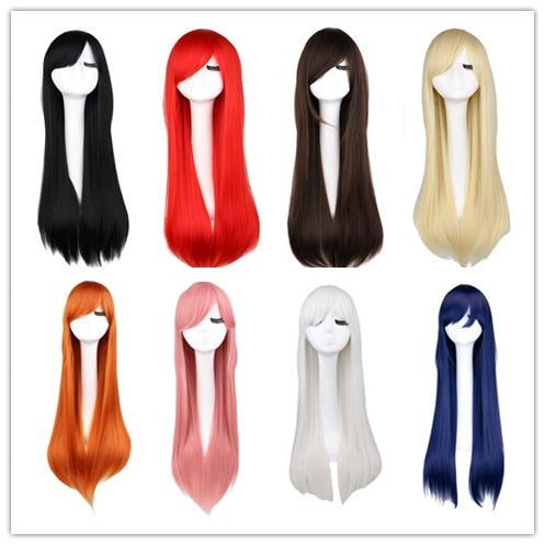 LONG STRAIGHT COSPLAY 80CM SYNTHETIC WIGS