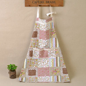 FLOWERY PATCHWORK COTTON APRON