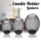 BLACK MODERN HOLLOW OUT CANDLE HOLDER - Hey Magento
