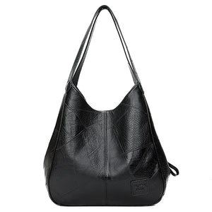 VINTAGE LUXURY SHOULDER LEATHER BAG