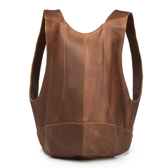UNISEX GENUINE LEATHER OVER THE SHOULDER  BACKPACK BAG