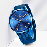 LUXURY MESH STEEL WATERPROOF SPORT CLOCK WRISTWATCH - Hey Magento