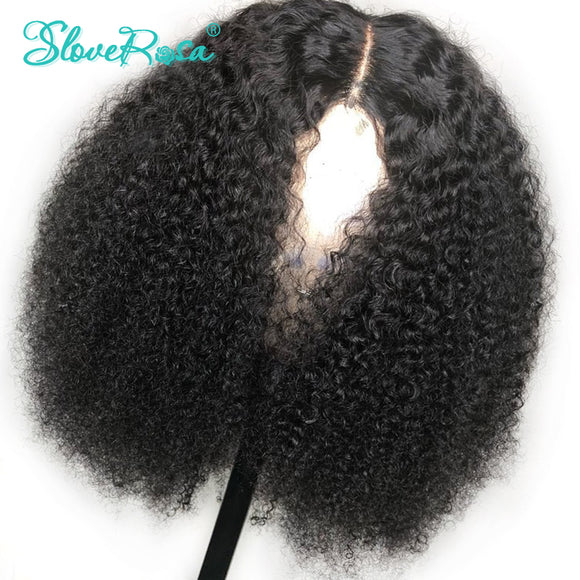 MONGOLIAN REMY SHORT BOB AFRO KINKY CURLY HUMAN HAIR LACE WIG - 150% DENSITY